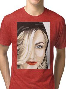 Julianne Hough Cartoonized  Tri-blend T-Shirt
