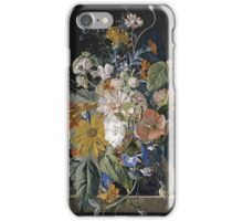 Jan Van Huysum - Poppies, Hollyhock, Morning Glory, Viola, Daisies. Still life with flowers: flowers, blossom, nature, botanical, floral flora, wonderful flower, plants, garden, vase iPhone Case/Skin