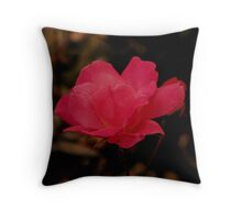Begonia in red .. Throw Pillow