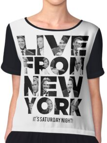 Live From New York, It's Saturday Night - Saturday Night Live Chiffon Top