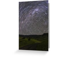 Star Trails, South of Beaudesert, Qld Greeting Card