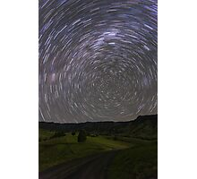 Star Trails, South of Beaudesert, Qld Photographic Print