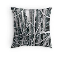 Natural fence Throw Pillow