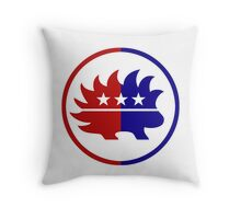 Libertarian Party Porcupine Freedom America Throw Pillow