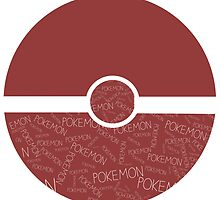 Worded Pokeball by BlondieAu