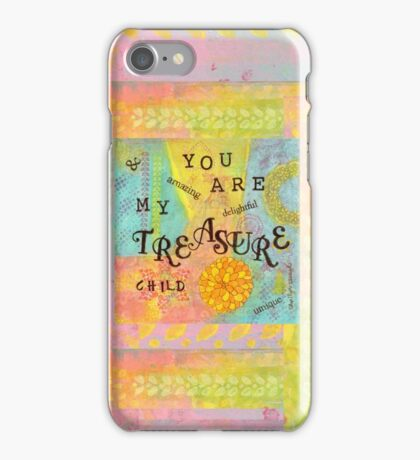 You are My Treasure--Affirmations From Abba  iPhone Case/Skin