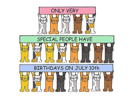 Cats celebrating birthdays on July 10th. by KateTaylor