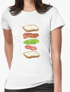 BLT PERFECTION BLUEPRINT tm Womens Fitted T-Shirt