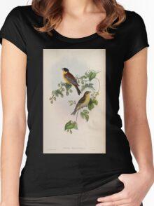 Birds of Asia John Gould 1883 V1 V7 313 Euspiza Melanocephala Women's Fitted Scoop T-Shirt