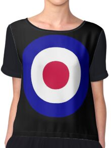 Roundel of the Royal Air Force Chiffon Top