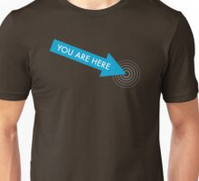 You are here. [Blue] Unisex T-Shirt