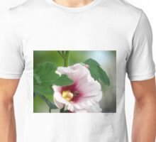 Bee in Hollyhock Flower Unisex T-Shirt
