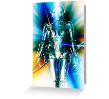 Star Light Robot Greeting Card
