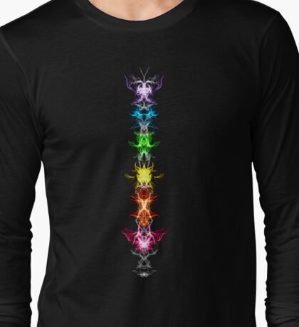 Fractal Art - Chakras - Energy Centers Long Sleeve T-Shirt