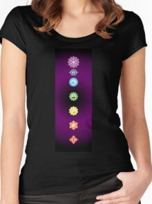 Chakra Vibrations (2008) Women's Fitted Scoop T-Shirt