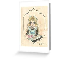 Victorian Child 'Flossie' Greeting Card
