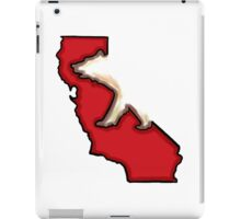 Red artistic California bear design iPad Case/Skin