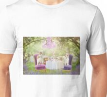 Welshie tea party in the woods Unisex T-Shirt