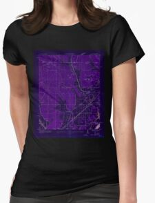 USGS TOPO Map Alabama AL Doran Cove 303696 1936 24000 Inverted Womens Fitted T-Shirt