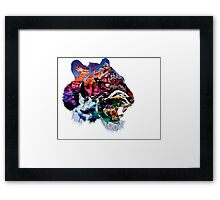 Tiger Collage  Framed Print