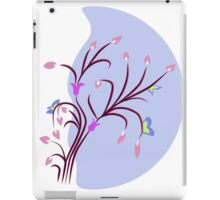 Pink Lilac in Blue Background iPad Case/Skin