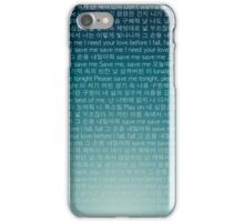 BTS Save Me Lyrics Phone Case iPhone Case/Skin