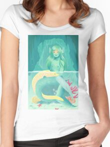 Mermaid and her pet Women's Fitted Scoop T-Shirt