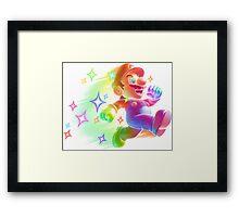 Super Mario Star Man Framed Print
