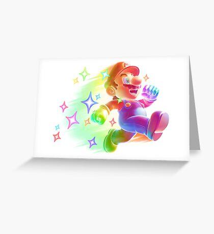 Super Mario Star Man Greeting Card