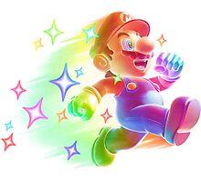 Super Mario Star Man Photographic Print