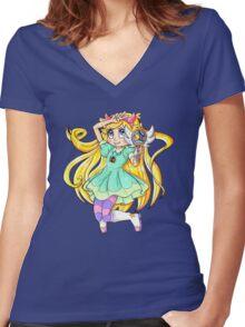 Star Butterfly - Season 2 Women's Fitted V-Neck T-Shirt