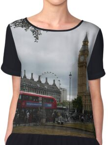 London Sightseeing Chiffon Top
