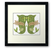 Mutant Catfish Twins Collecting Starfish Framed Print