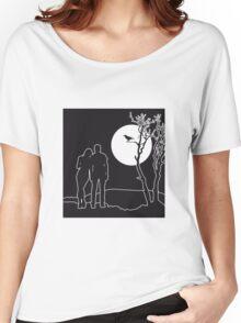 full moon love couple romance love love Women's Relaxed Fit T-Shirt