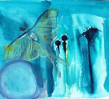 Luna Moth by MiaDiiorio