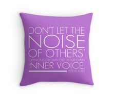 Inspirational Quote by Steve Jobs Throw Pillow