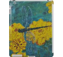 Dragonfly And Marigolds - Oil Painting iPad Case/Skin