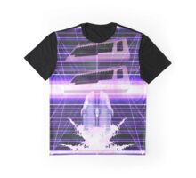 Commodore Dolphin Vaporwave Inspired Design Graphic T-Shirt