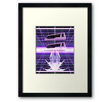 Commodore Dolphin Vaporwave Inspired Design Framed Print