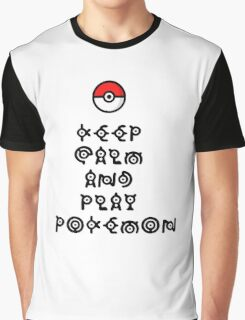 Pokemon - Keep Calm and Play Pokemon Graphic T-Shirt