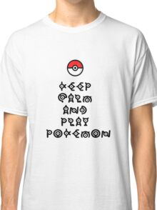 Pokemon - Keep Calm and Play Pokemon Classic T-Shirt