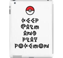 Pokemon - Keep Calm and Play Pokemon iPad Case/Skin