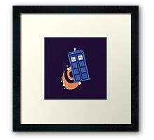 police box in time Framed Print