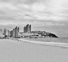 Beach in Busan, South Korea by Fike2308