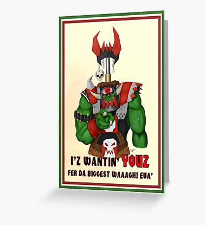 Unkull Ork (original poster) Greeting Card
