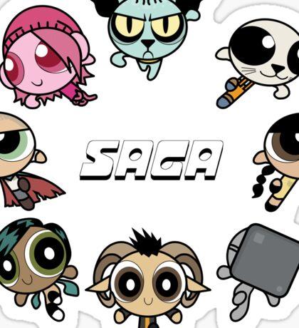 Saga Puffs Parody Sticker