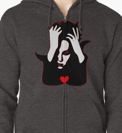 §♥Sexy Romantic Mortally Stunning Vampire Guy Clothing & Stickers♥§ Zipped Hoodie