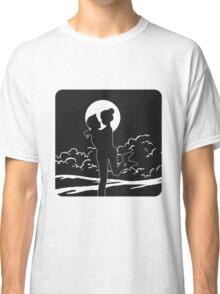 full moon love couple romance love Classic T-Shirt