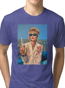 Joanna Lumley as Patsy Stone painting Tri-blend T-Shirt