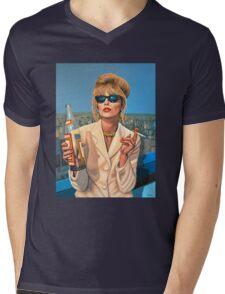 Joanna Lumley as Patsy Stone painting Mens V-Neck T-Shirt